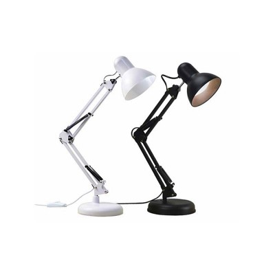 Classical Delicate Table Lamp Reading Light, Adjustable Solid ABS Metal Bedside Desktop Night Light Lamp