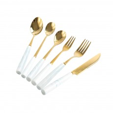 Stainless Steel Flatware Set Including Knife Fork Dinner Dessert Spoon Tableware, Suitable As a Gift