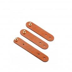 Ultarsoft Microfiber Leather Data Wire Earphone Organizer, 3PCS 4PCS Durable Leather Data Line Organized Belt Buckle