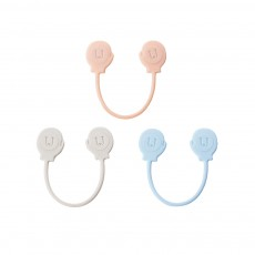 Minimalist 3PCS Magnetic Date Line Wire Organizer Strap, Soft Silicone Charging Line Earphone Wire Receiving Buckle Belt