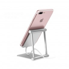 Adjustable Universal Metal Smart Phone Tablet Computer Holder, Minimalist Simple Collapsible Mobile Phone Stand Supporter