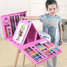 Children Multiple Watercolor Painting Pen Paintbrush Suit with Drawing Board, Portable Complete Colorful Painting Tools for Kids