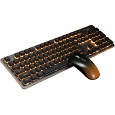 Quiet Gaming Keyboard and Mouse Combo, LED Backlit Quiet Keyboard and Mouse Gaming Set Wireless