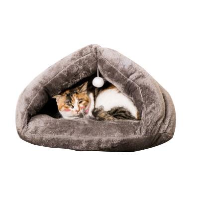 Plush Triangle Cat Nest Bed, Keep Warm Cat Nesting Dolls, Luxury Cotton Kitty Nest