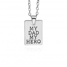 Zinc Alloy Necklace Pendant with I Love You Dad Lettering Letters & Perfect Lines, Father's Day Gift