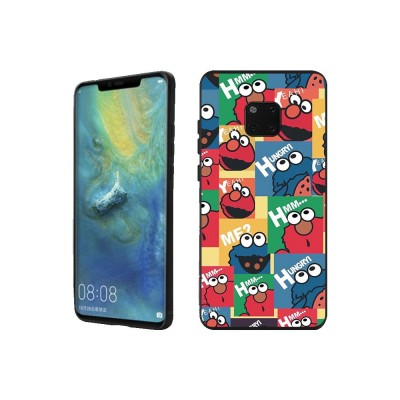 Cute Protective Cover for HUAWEI mate 20/20x/mate 10/mate 9/9 pro, HD Colorless Painted Soft Shell Full Package Tile Cartoon Monsters Case