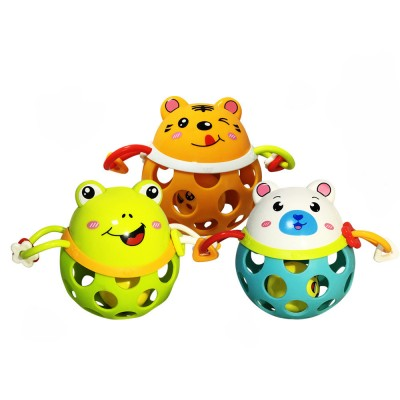 Colorful Cute Animal Baby Rattle, Creative Plastic Hand Bell Teether for Children Infants