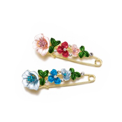 Flower Brooch for Women, High-end Fancy Oil Painting Brooches Pin Elegant Dresses Jewelry
