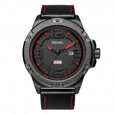 Waterproof Sport Watch with Calendar, Multifunctional Leather Band Sport Watchfor Men