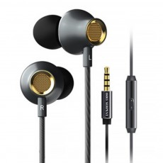 Graphene Diaphragm Headphones with 4D Surround Bass, Intelligent One-key Wire Control Wired Headset