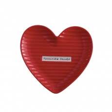 Creative Dessert & Cakes Storage Plate with Warm Heart Shape, Streamline Design Ceramic Breakfast Tray