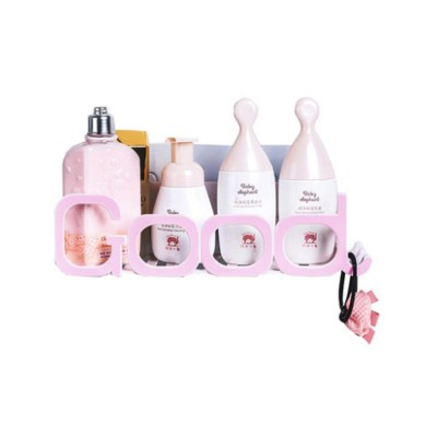 Wash Gargle Station Place Rack Wall Hanging Angle Rack with Hole-free Design & Letter Shape for the Bathroom