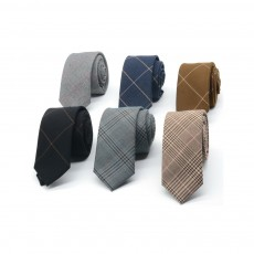 Men's 6cm Narrow Bow Ties, Handcraft Unique Stripe & Grid Pattern Business Neckties- Various Styles for Men