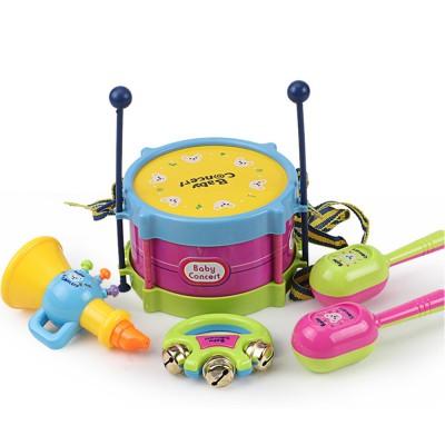5PCS Waist Drum Stick Handbell Maracas Aerophone Baby Toy, Creative Children Musical Instruments Early Education