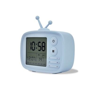 Creative Television Model Intelligent Digital Alarm Clock Watch, Stylish Funny Clock with Sound Reminder Two Light