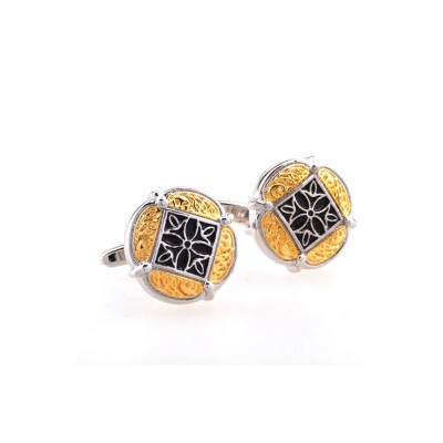 French Style Cuff Links, Classical Cufflink of Color Matching, Electroplating Fashion Buttons