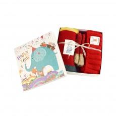 Cute Warm Children Deer Antler Beanie Cap Scarf Gloves 3 PCS Suit, Elegant Cartoon Animal Sewing Autumn Winter Christmas Accessories Set for Children