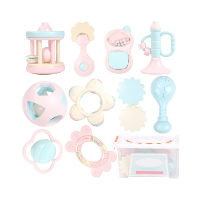 Cute Fancy Rattle 5PCS 8PCS 10PCS Suit for Infants, Durable ABS New-born Baby Hand Bell Puzzle Toy, Can Be Boiled