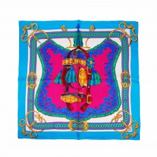 Lady's Small Silk Square with Twill Fabrics & Pure Hand Hemming, Printing Silk Scarves Preventing Bask in A Suit
