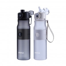 Creative Outdoor Sports Bottle, Portable Fitness Plastic Cup, Female Simple Straw Cup