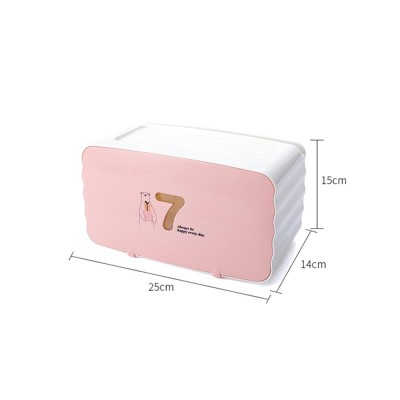 Multifunctional Waterproof Paper Towel Box with Hole-free Design for Paper-drawing & Roll Paper