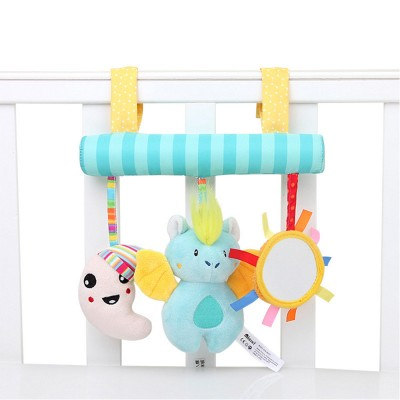Multifunctional Pram Infants Bedside Hanging Toy with Music Function, Delicate Babies Pacification Sleeping Accompany Toy