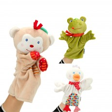 Cute Fluffy Animal Hand Puppet, Delicate Soft Plush Amusing Toy Doll for Children Infants