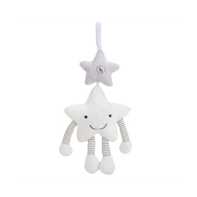 Cute Star Music Wind Bell Bed Bell Pram Pendant, Ultrasoft Plush Bedside Decoration Ornament Puzzle Early Education Toy