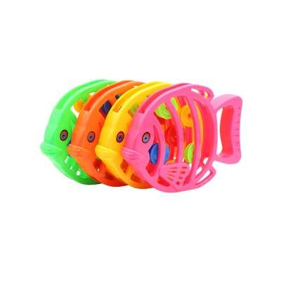 Delicate Fish Rattle for Infants, Colorful Plastic Breaking-proof Secure Babies Hand Bell Pacification Toy