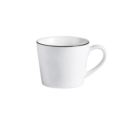 Minimalist Elegant White Ceramics Mug, Large Capacity Pure Color Office Household Breakfast Milk Coffee Cup