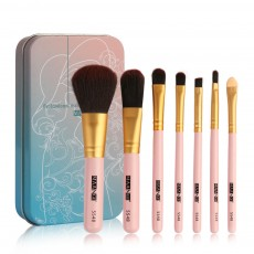 Stylish 7PCS Professional Makeup Brushes Set with Iron Box, Elegant Finest Cosmetic Brushes Suit For Makeup Beginners