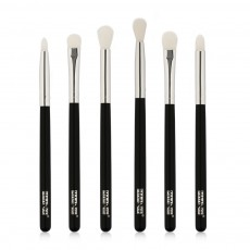 Delicate Professional Makeup Eye Shadow Brushes Suit, Minimalist 6PCS Wooden Multiple Eye Brushes Set