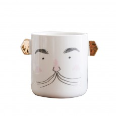 Funny Cute Expression Painting Ceramics Mug, Unique Stylish Household Water Coffee Breakfast Cup