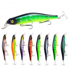 Artificial Fishing Lures Bait Tackle with Magnet Weight System, Delicate Mock Fish Model Minnow Crank Bait Bass