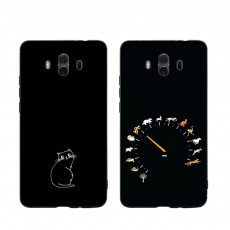 Cute Cat Phone Case, Protective Soft Silicone Cat Case Cover for HUAWEI Mate 10, Mate 20