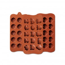 Chocolate Mold Creative Silicone Mould Candy Pudding Jelly Ice Grid Dessert Bake Mould Durable Easy Release