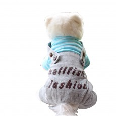 Stripe Hoodie Suspenders Cotton Casual Dog Clothes, New Style for Teddy Dogs in Autumn and Winter 2019 Pet Clothes
