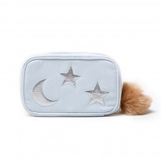 Big Hair Ball Portable Cosmetic Bag, Cute Star Moon Decoration Bag, Rectangular Storage Small Bag For Lady