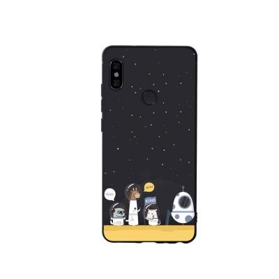 MI Phone Case for MI 8, MI 8 Explorer, MI 8 Lite, MI SE, MI 6X, Fingerprint-resistant Soft Silicone Phone Case Cover, Cartoon MI Protection Case