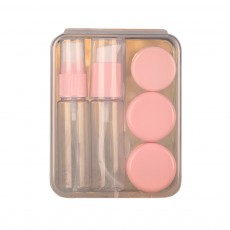 Travel Mini Plastic Transparent Empty Cosmetic Make Up Container Bottle Jar Lotion Cream Shampoo 6pcs/set