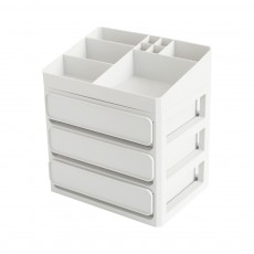 Desk Make Up Cosmetics Container, Plastic Jewelry Organizer Case Drawer Storage Container