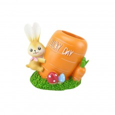 Small Bunny Decoration, Resin Crafts, Bunny Coin Bank, Saving Pot, Pen Container, Night Lamp