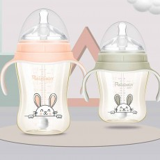 Superior PPSU Plastic Baby Feeding Bottle, Milk Feeding Bottle With Handle, Nursing Feeding Bottles with Wide Extension