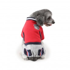 New Baseball Hoodies for Pets, Striped Pet Supplies for Four-legged Dogs, Stylish Fake Pocket Dog Clothes