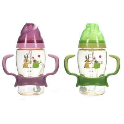 Nurser for New-born Infant Wide Mouth Feeder Avoid Flatulence Baby Care Large-size Nursing Bottle PPSU Anti-impact Feeding Bottle