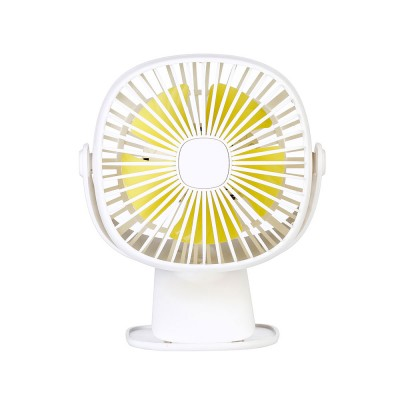Rechargeable Portable Fan Table Clip Desk 360 Degree Rotation USB Electric Mini Fan with Lithium Cooling Battery