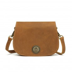 Vintage Fashion Leather Handbags, Vegetable Tanned Ladies Shoulder Bag for Female, Top Cowhide Clutch