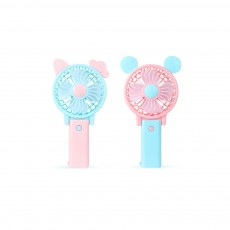 USB Handheld Mini Fan Rechargeable for Hot Day ABS Portable Folding Table Fan