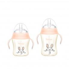 Feeding Bottle for Babies PPSU Nurser Super Wider Mouth with Handle Nursing Bottle with Sucker New-born Feeder EXW Wholesale