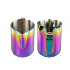 Teflon-coated Stainless Steel Garland Cup with Dazzling Color, 600ml Garland Mug Milk Foam Cup Fancy Cup